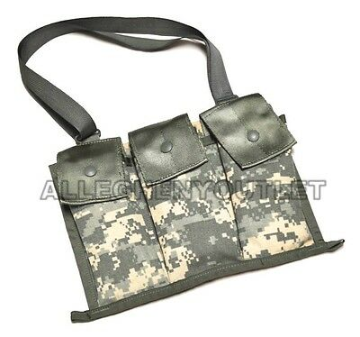 NEW 3 LARGE POCKETS LOT OF 2 USGI MOLLE II 6 MAG BANDOLEER MAG POUCH ACU