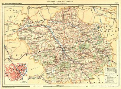 Département Inset City Town Map Plan Of Troyes 1906 Old Antique Colours Are Striking Modest Aube