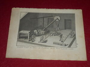ENCYCLOPEDIE-DIDEROT-ARTS-amp-METIERS-CUIVRE-COULE-PLANCHE-GRAVEE-18e