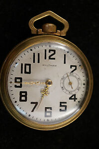 Vintage-Waltham-P-S-Bartlett-17-Jewel-Pocket-Watch-Gold-Plated-Engraving