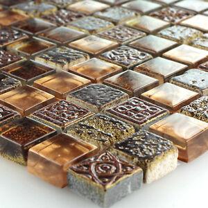 glas kalkstein marmor mosaik fliesen braun gold mix. Black Bedroom Furniture Sets. Home Design Ideas