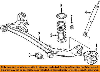Toyota Sienna 98-03 Rear Shocks Genuine OEM OE