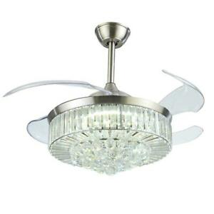 Ceiling Fan Lamp Remote Led Crystal
