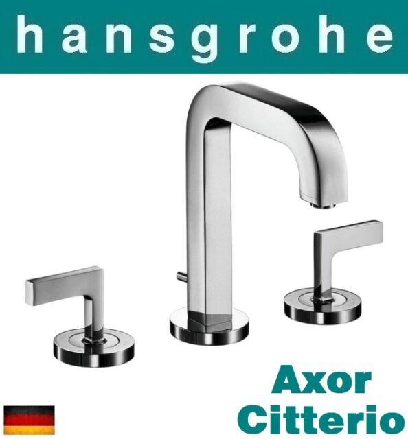 Hansgrohe AXOR Citterio 39135000S 3-hole Basin Mixer 80 W/pop-up ...
