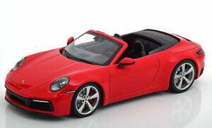 Porsche-992-911-Carrera-4S-Cabrio-rot-2019-1-18-Minichamps-lim-504-Stk