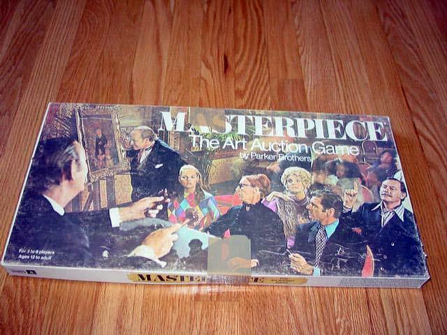 Masterpiece 1970 - Parker Bredhers - High Bidding Art Auction Game (Very Nice)