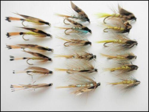 La truite de mer pêche Mouches INVICTA et Woodcock 6 /& 8 Lot de 18 gros crochet mouiller