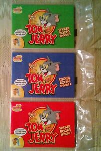 Sonic Wacky Pack Kids Meal Toys 3 Tom And Jerry Sticker Books