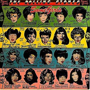 ROLLING-STONES-034-Some-Girls-034-Vinyl-LP-1978-1st-Version-Die-Cut-w-Celebrity-Faces