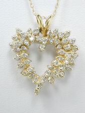 2408 SALE - Diamond Heart & 18in Necklace 0.75ct TW Diamond 14k 100% Yellow Gold