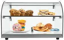 22 Countertop Bakery2 Tier Display Case With Front Curved Glass And Rear Door