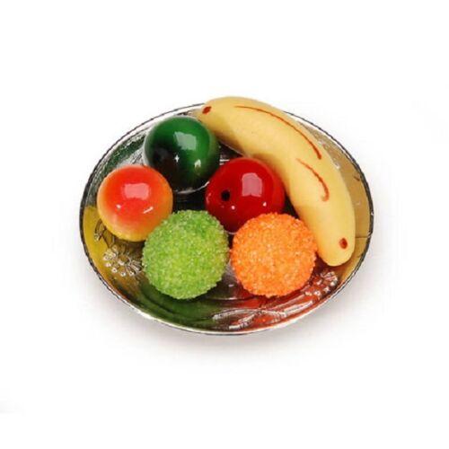 Miniature Fruit Plate 1 1//2 inches Doll House Fairy Garden     B159