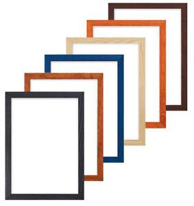 konfetti holz rahmen range 20 mm bilderrahmen plakat holzrahmen a4 a3 ebay. Black Bedroom Furniture Sets. Home Design Ideas
