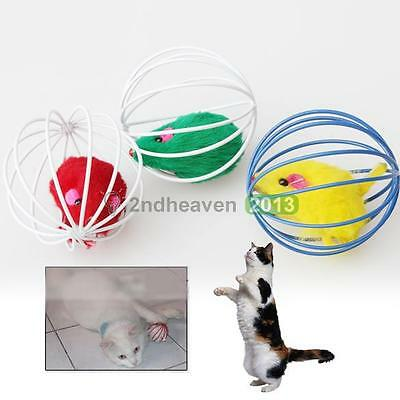 New Lovely Pet Cat Kitten Dog Puddy Funny Play Mouse Ball Toys Colorful Gift