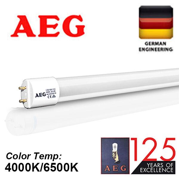 10X 25X GermanAEG LED T8 glass tube fluorescent Light 9W 18W 60 120cm COOL FROST