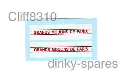 Affidabile Dinky Francese 25jv Ford | Grands Moulins De Paris | Scivolo Ad Acqua Trasferimento/adesivo-mostra Il Titolo Originale Da Processo Scientifico