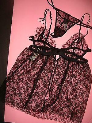 NWT Victoria's Secret Designer Collection 36B babydoll/slip+M thong $350+