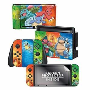 Controller-Gear-Nintendo-Switch-Skin-amp-Screen-Protector-Set-Pokemon-034-Kanto-E