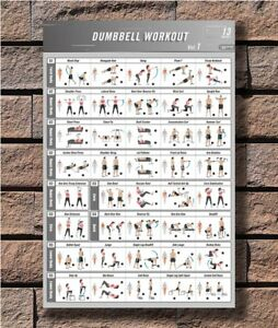 photograph about Dumbbell Workout Chart Printable named C-51 BodyBuilding Conditioning Dumbbell Work out Vol.1 Health and fitness center Chart