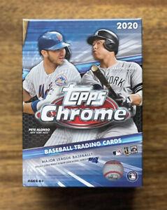 2020 Topps Chrome Baseball Factory Sealed BLASTER Box + 4 BONUS SEPIA REFRACTORS