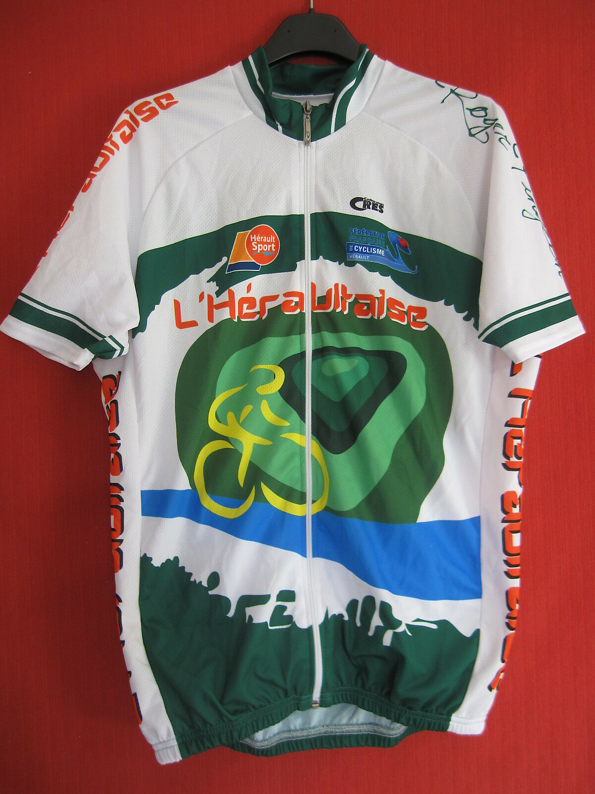 Maillot Cycliste Herault Sport Heraultaise CRES 34 FFC Velo - XL