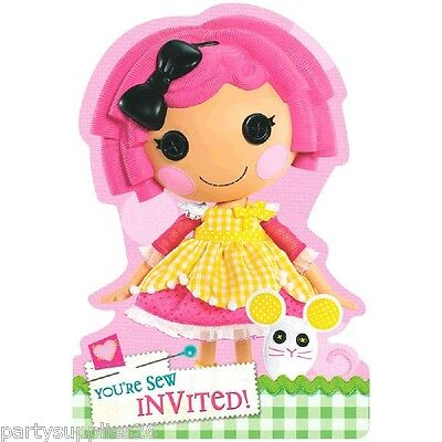 LALALOOPSY BIRTHDAY PARTY SUPPLIES INVITE INVITATIONS PACK OF 8