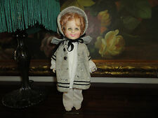"""Ideal CBS Gabriel 1982 Shirley Temple Rubber Doll 12"""" Original Victorian Outfit"""