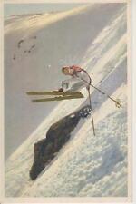 "Ski Poster "" Sid Buchmayr doing Jump Turn on Tuckerman Headwall1934"" Jackson NH"