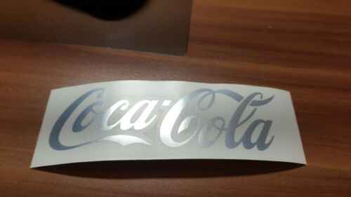 Coca Cola Aufkleber für Kühlschrank Auto Rad 12cm Chrom spiegelnde Folie