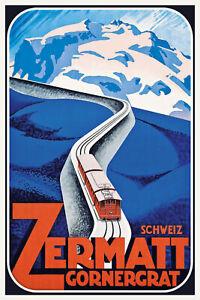 Suiza-Switzerland-Zermatt-gornergra-chapa-escudo-Escudo-Tin-sign-20x30cm-cc0417