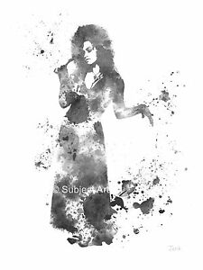Impresión De Arte Bellatrix Lestrange Harry Potter Ilustración