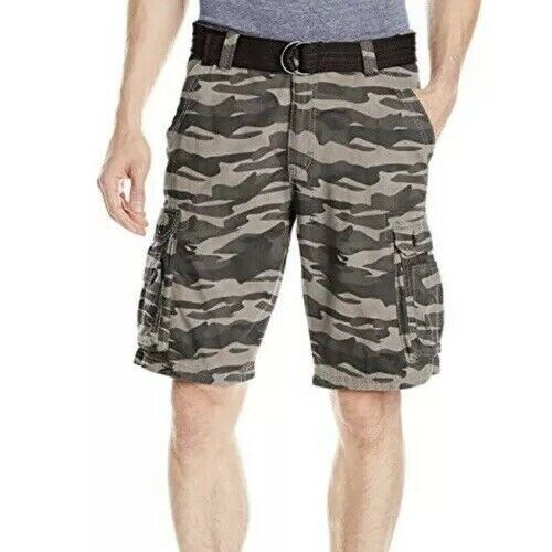 5cdd07e012 14 R Boys' Lee Dungarees Wyoming Belted Cargo Shorts 5210764 Carbon ...