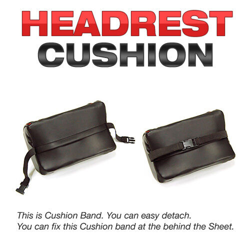 Car Head Neck Rest Cushion Pillow Leather White Stitched For AUDI 2008-2016 Q5