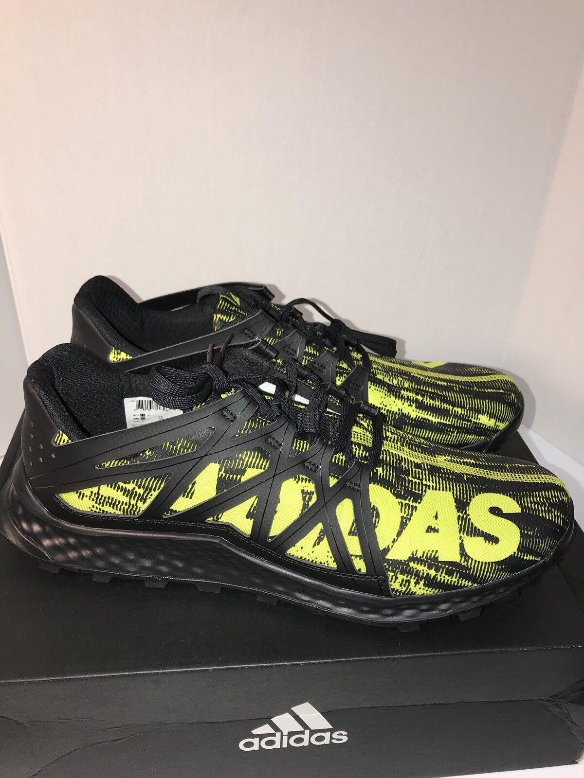 Adidas Men's Vigor Bounce M Trail Runner Black Shock Slime Black 13 D(M) US New
