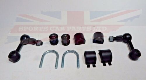 and Ends Set Triumph Spitfire GT6 1962-70 New Poly Sway Bar Bushings Brackets