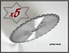 5 Blades 165mm x 20mm x 40T Metal Cutting HC Saw Blade 4 Makita Dewalt Hitachi