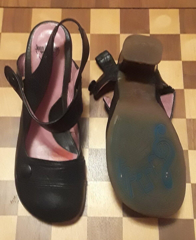 John fluevog Soprano  Wilhelmina 8.5 Slingback Zapatos Zapatos Zapatos Zapatos De Salón Tacón Mary Jane 814354