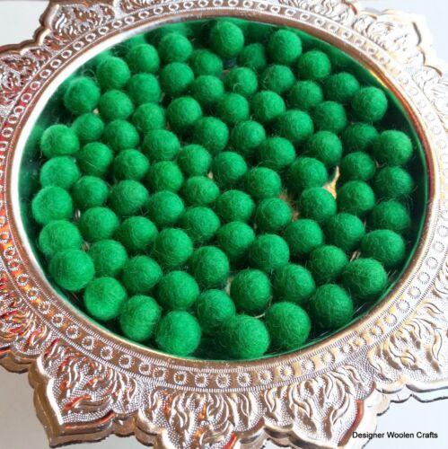 1cm Felt Balls Bright Green Color Felt Wool Balls Handmade Pom Pom Woollen Beads