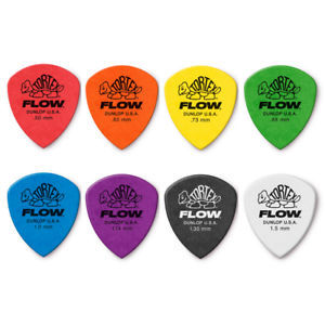 Dunlop-Tortex-Flow-Plectrums-picks-558P-Player-12-Pack-0-50mm-to-1-5mm
