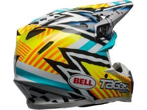 Casque-Motocross-BELL-Moto-9-MIPS-Tagger-Jaune-Bleu-Blanc