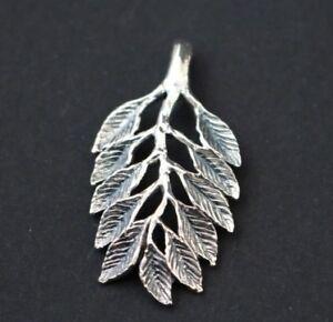 Blattform-Damen-Anhaenger-925-Silber-Blaetter-auf-einem-Ast-Silberanhaenger-Zweig