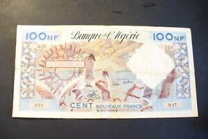 Tres Rare Ancien Billet 100 Nf AlgÉrie 31/07/1959 - Ttb !