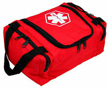 "DIXIE EMS FIRST RESPONDER EMT JUMP TRAUMA BAG - RED 10.5""X 5"" X 8"""