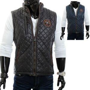 Hommes-Matelassee-bossmen-gilet-veste-noir-vest