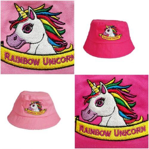 Unicorn per Bambini Estate Bush Secchio Cappello Protezione Dal Sole Ragazze Bambini Con Motivo