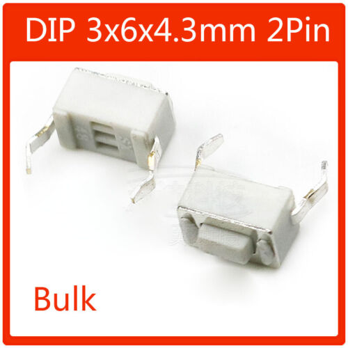 50 un 3mm Táctil Botón Interruptor Tacto Micro Switch SMD DIP 2 Pin 4 Pin 5 Pin
