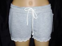 Kiss & Cry Women's Casual Shorts Lace Trim Med Elastic & Drawstring Waist