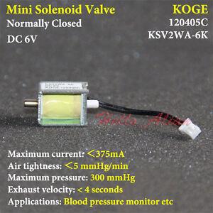 DC 6 V 2-Way Mini Eléctrica Solenoide Válvula normalmente cerrado N//c Para Aire Válvula De Gas