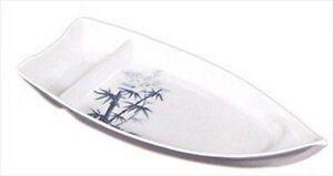 Bamboo Melamine Plastic Sushi Plate 8x5.5in #509B-BZ S-2332