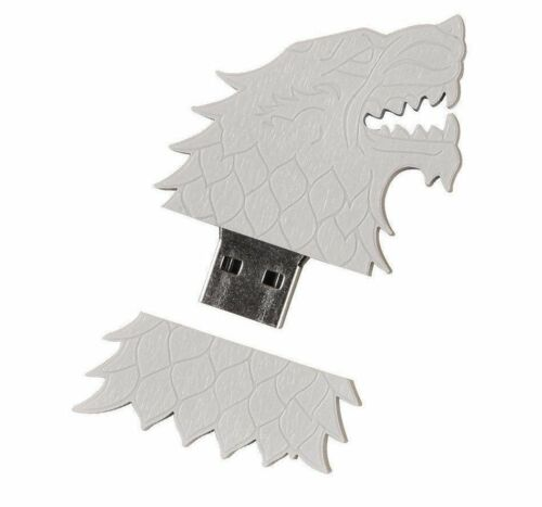 5 x Game of Thrones Stark Sigil 4gb USB thumb flash drive HBO Arya direwolf